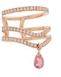 Diane Kordas - Purple Diamond, Tanzanite And Rose-gold Ring - Lyst