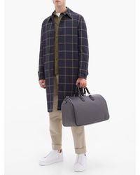 Dunhill Gray Engine-turn Technical-canvas Holdall for men