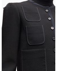 Veste en laine à boutonnage simple et poches Rochas en coloris Black