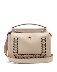 Fendi - Pink Dotcom Whipstitched Leather Bag - Lyst