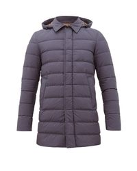 Herno Blue Techno Tasmania Quilted-down Coat for men