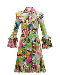 Robe en soie à volants Fancy LaDoubleJ en coloris Multicolor