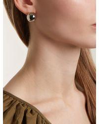 J.W. Anderson Metallic Sphere Palladium Plated Earrings