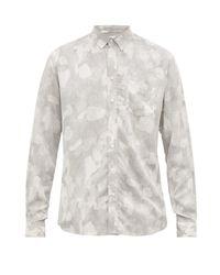 メンズ Schnayderman's カモフラージュプリント ツイルシャツ Multicolor