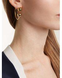 J.W. Anderson Metallic Sphere-end Hoop Earrings