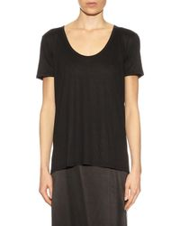 The Row Black Sabeen Short-Sleeve T-Shirt