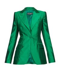 Dolce & Gabbana シルク シングルジャケット Green