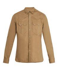 Lanvin Natural Point-collar Cotton Shirt for men