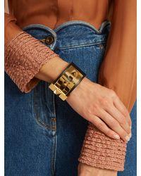 Valentino | Black Rockstud Wide Leather Bracelet | Lyst