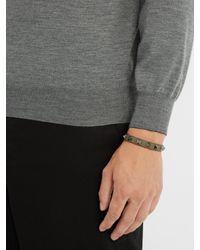 Valentino - Multicolor Rockstud-embellished Leather Bracelet for Men - Lyst