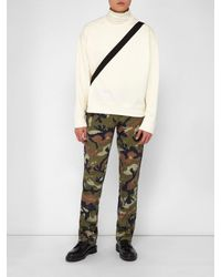 Valentino Green Cameo Art Print Track Pants for men