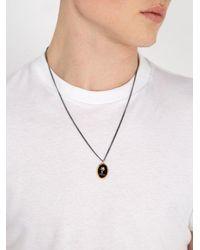 Miansai - Metallic Palm Tree Pendant Sterling-silver Necklace - Lyst