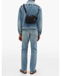 メンズ Balenciaga デニムジャケット Blue