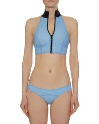 Lisa Marie Fernandez - Blue Lisa Marie Halterneck Denim Bikini - Lyst