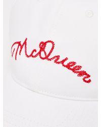Casquette en coton à logo brodé Alexander McQueen pour homme en coloris White
