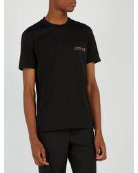 T-shirt en coton à logo brodé et à sequins Givenchy pour homme en coloris Black