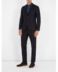 Boglioli - Blue Single-breasted Flannel-wool Suit for Men - Lyst