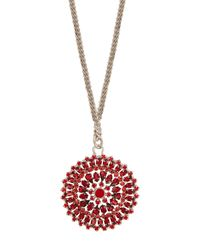 Givenchy - Red Crystal-embellished Necklace - Lyst