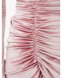 Alexandre Vauthier ベルベット ギャザーミニドレス Pink