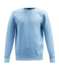 メンズ Polo Ralph Lauren ロゴ コットンブレンドスウェットシャツ Blue