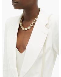Temperley London White Sophia Single-breasted Linen-blend Jacket