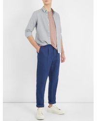 Éditions MR Blue St. Germain Striped Cotton-blend Shirt for men