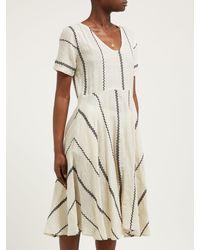 Ace & Jig Multicolor Luella Striped Cotton Midi Dress