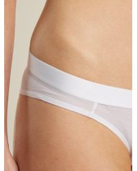 Negative Underwear - White Sieve Mesh Briefs - Lyst