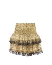 Mes Demoiselles イブー レイヤード フローラルクレープ ミニスカート Multicolor
