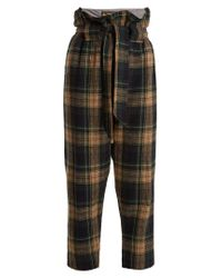 Vivienne Westwood Anglomania Multicolor New Kung Fu Wool-blend Tartan Cropped Trousers