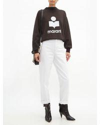 Étoile Isabel Marant Black Moby Flocked Logo Cotton Blend Sweatshirt