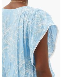 Melissa Odabash ケリ リーフ クレープミニドレス Blue