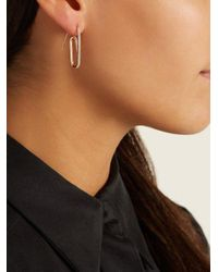 Hillier Bartley - Multicolor Swarovski-embellished Paperclip Single Earring - Lyst