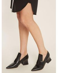 Givenchy - Black Patricia Point-toe Leather Loafers - Lyst