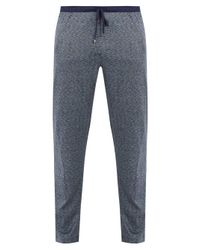 Zimmerli - Blue Jacquard Cotton And Silk-blend Jersey Trousers for Men - Lyst