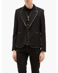 メンズ Saint Laurent ルレックス ボーダーニットポロシャツ Black