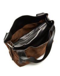 The Row - Brown Duplex Suede Shoulder Bag - Lyst