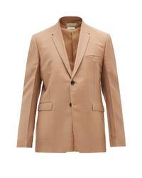 メンズ Bottega Veneta モヘアブレンド シングルジャケット Natural