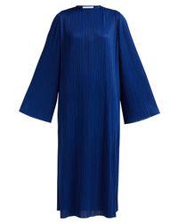 Givenchy Blue Micro Pleated Midi Dress