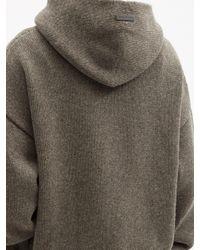 メンズ Fear Of God ウール フーデッドセーター Multicolor