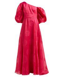 Carolina Herrera フィルクーペ シルクブレンドオーガンザ ドレス Red