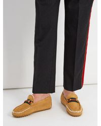Gucci - Multicolor Shearling-lined Driving Loafers for Men - Lyst