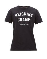 メンズ Reigning Champ コットンtシャツ Black