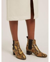 AlexaChung Multicolor Python-print Leather Chelsea Boots