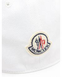 Casquette en coton à finitions tricolores Moncler pour homme en coloris White