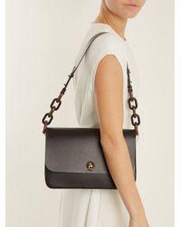 Sophie Hulme Black The Spring Larger Leather Saddle Bag