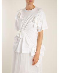 Simone Rocha - White Knot-detail Cotton-jersey T-shirt - Lyst
