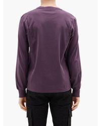 メンズ 1017 ALYX 9SM コットン ロングスリーブtシャツ Purple