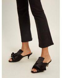 N°21 Black Twisted-satin Open-toe Mules
