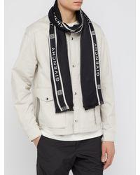 Écharpe en laine et soie à logo en intarsia Givenchy pour homme en coloris Black